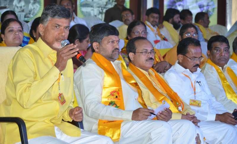 Andhra Pradesh Chief Minister Naidu at a n event