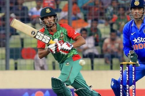 Bangladesh batsman Nasir Hossain in action during the 1st ODI match between India and Bangladesh at Shere Bangla National Stadium in Mirpur, Dhaka, Bangladesh on June 18, 2015.