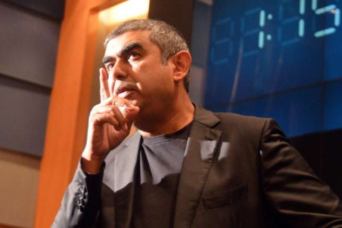 Infosys CEO Vishal Sikka announces the results for second quarter (July-Sep) at Infosys Campus in Bangalore
