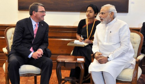 The US Defence Secretary, Mr. Ashton Carter calls on the Prime Minister, Shri Narendra Modi, , in New Delhi on June 03, 2015.
