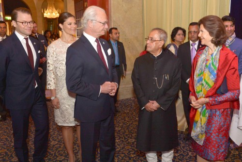 The President, Shri Pranab Mukherjee and the King Carl XVI Gustf at the Seminar on India-Sweden Partnership – Co-creating a Brighter Future, in Stockholm, Sweden on June 02, 2015.
