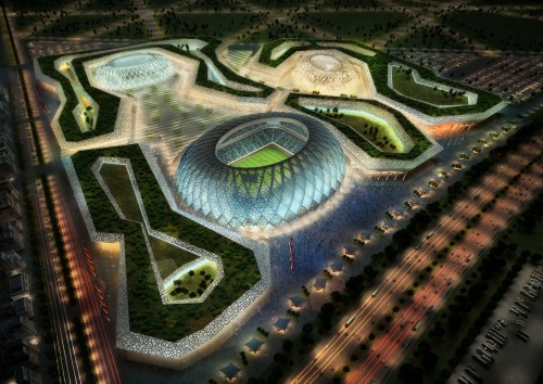Handout image supplied by Qatar 2022  The Al-Wakrah stadium complex is pictured in this artists impression as Qatar 2022 World Cup bid unveils it's stadiums on September 16, 2010 in Doha, Qatar.