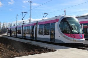 Midlands Metro trams in Birmingham