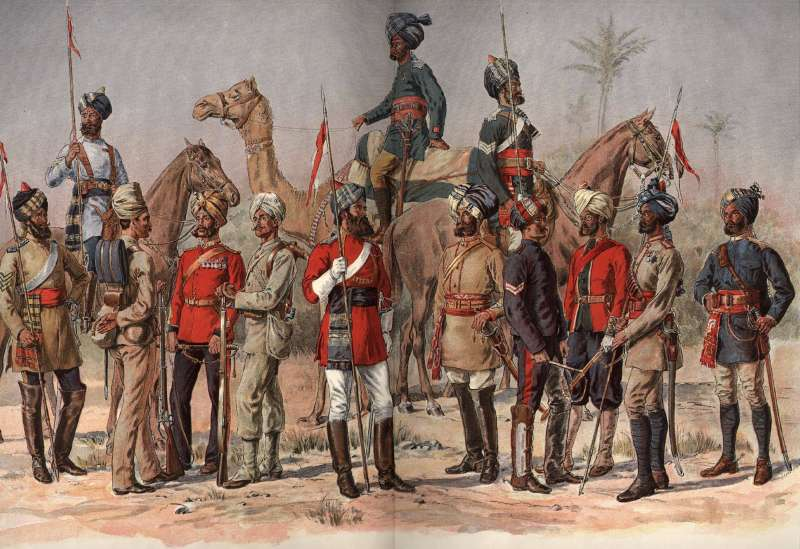 Sepoys from Madras Regiment