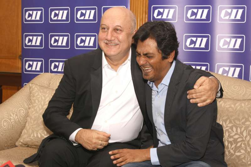 Anupem Kher with Nawazuddin Siddiqui