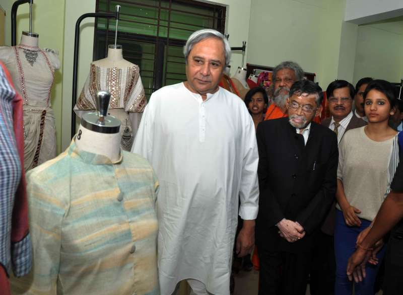 Orissa Chief Minister Naveen Patnaik  at `Design Sutra` - an exhibition and workshop organised at NIFT in Bhubaneswar
