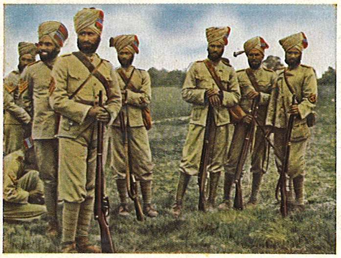 An image of Indian soldiers during the World War II