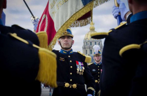 French soldiers during the annual Bastille Day military parade in Paris, France