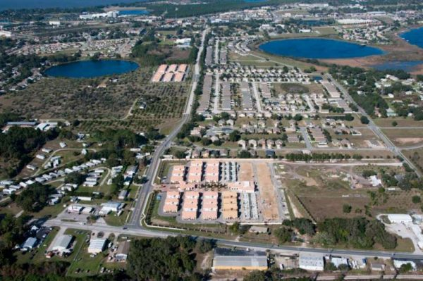 An aerial view of the Shantiniketan project in Florida.