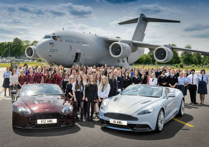Aston Martin has teamed up with the Royal Air Force, to attract the next generation of women into engineering roles in both organisations