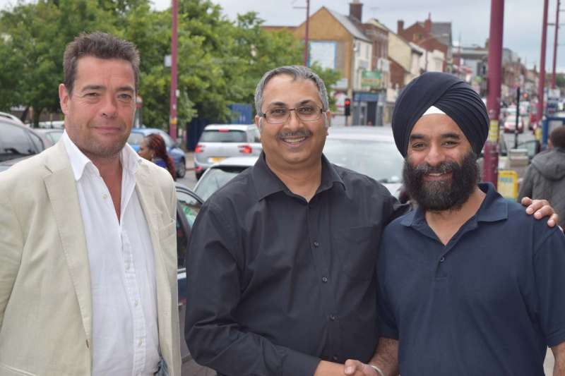 (L to R) Senior Management Director Craig Buckby; Chairman Dipak Patel; and Vice Chairman Rav Singh