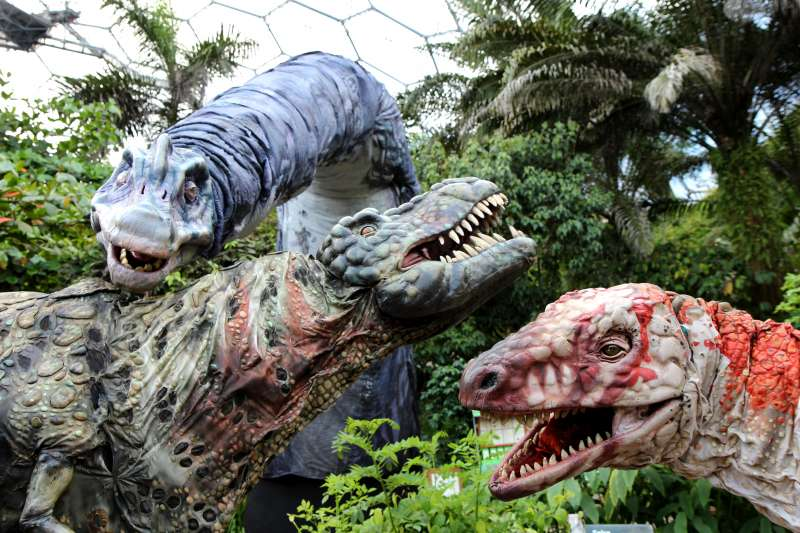 Dinosaur roam at the Eden Project