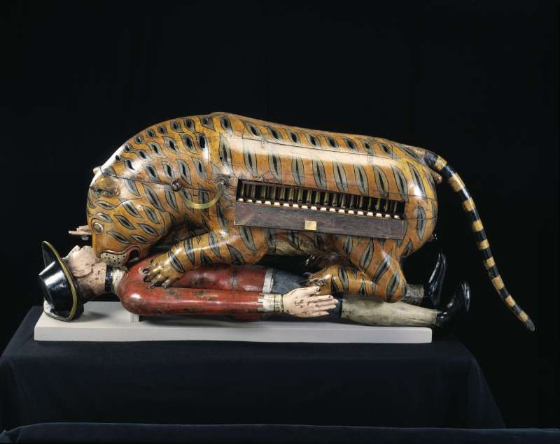 Tipu Sultan, the Lion of Mysore in history, created this tiger toy to show his opposition to the colonial rulers. A  pic from London V & A museum