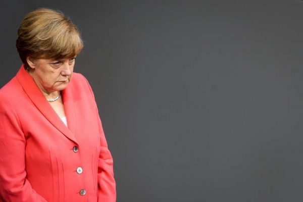 German Chancellor Angela Merkel attending the debate on Greece bailout