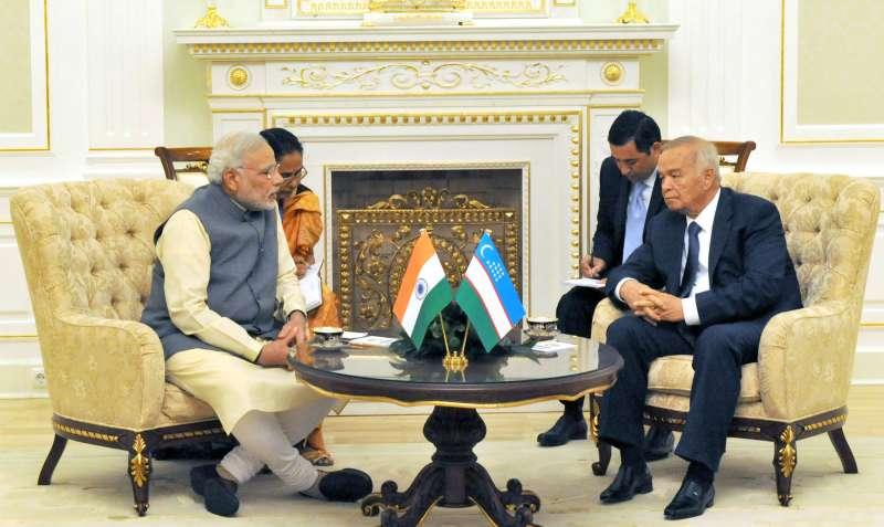 Prime Minister Narendra Modi held talks with Uzbekistan President Islam Karimov