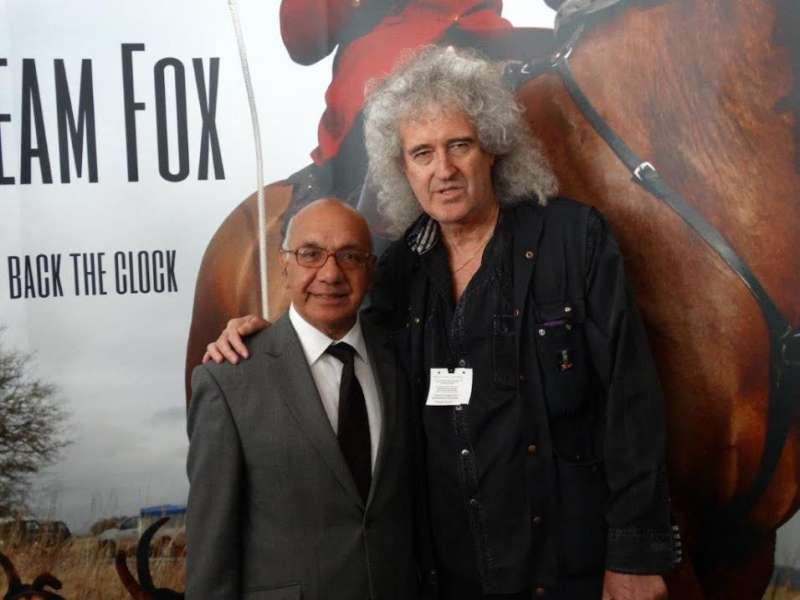 Virendra Sharma MP with Brian May