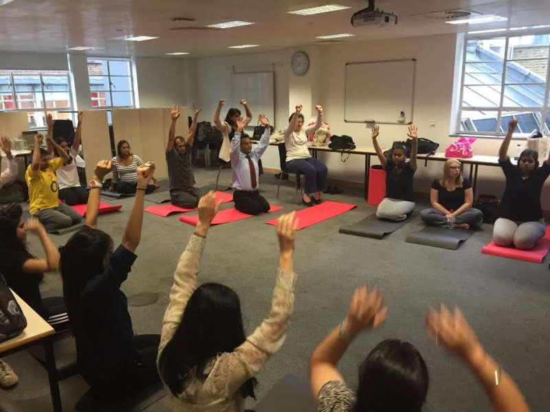 UK LAYWERS TAKE TO YOGA