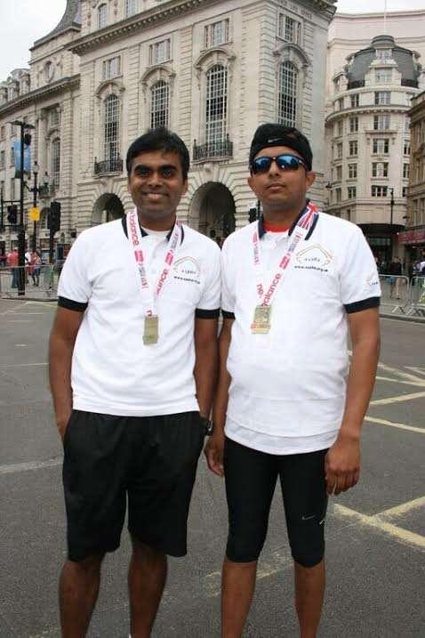 L to R - Dr Jagdish Sadashiva an Anaesthetist  and Dr Karthikeyan a Cardiologist