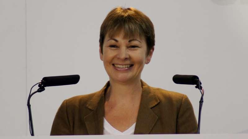 Britain's Green party MP Caroline Lucas