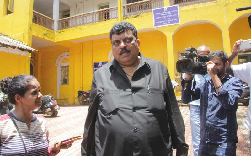 Former Goa Minister Churchill Alemao arrives to appear before Goa Crime Branch in connection with the Louis Berger bribery case at Ribandar in Goa