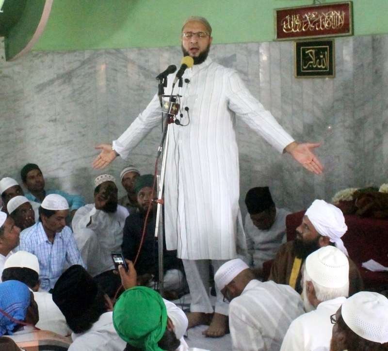 MIM President Asaduddain Owaisi addresses during Jalsa-e-Youm-ul-Quraan at Quthbullapur in Hyderabad (FILE)