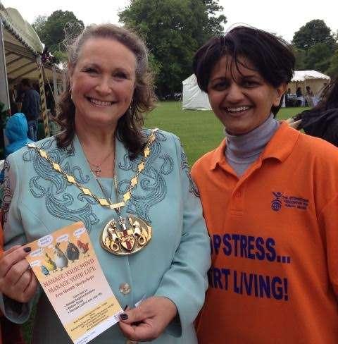 Farnaaz with Deputy Mayor of Medway Jane Etheridge