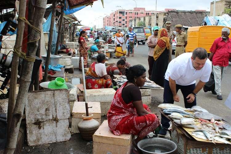 Gary Mehigan explores an Indian fish market