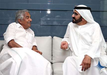 Dubai Ruler Shiekh Mohammed with Kerala Chief Minister Oommen  Chandy (File)