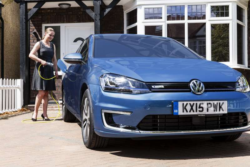Volkswagen e-Golf home charging_1- Motorists could save £750 per year in tax and fuel by switching to ultra-low emission vehicles