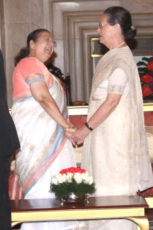 Parliament Speaker with Congress President Sonia Gandhi