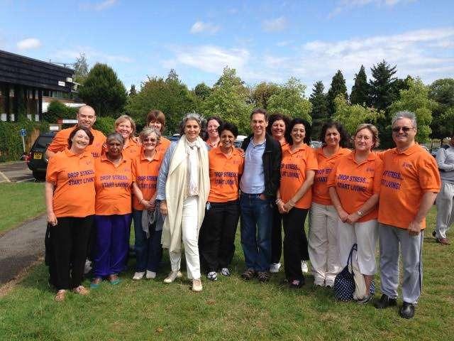 Farnaaz with IAHV Trustees and volunteers