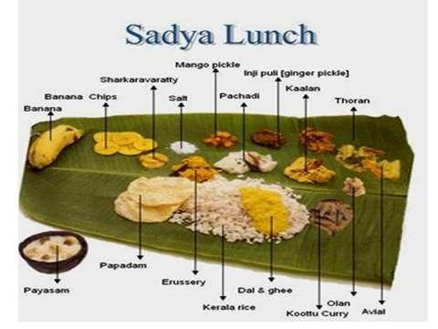 Onam sadya in Kerala