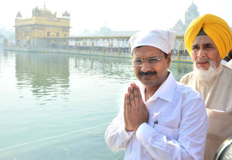 Delhi Chief Minister Mr Arvind Kejriwal in Punjab