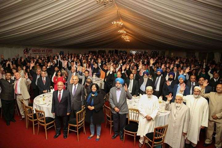 Audience at the UK Welcomes Modi' reception at Indian Gymkhana Club in Osterley , London