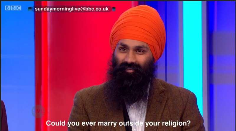 Jagmeet Singh of Basics of Sikhi in the BBC show