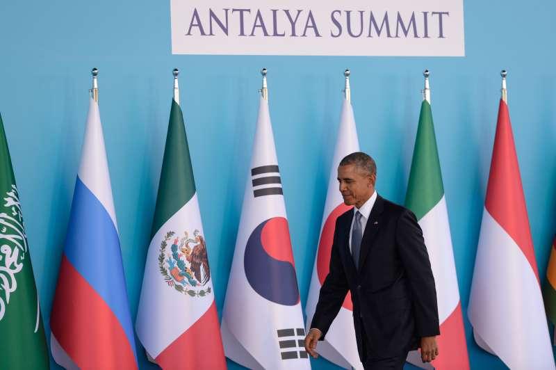 U.S. President Barack Obama at the G20 Summit in Antalya, Turkey