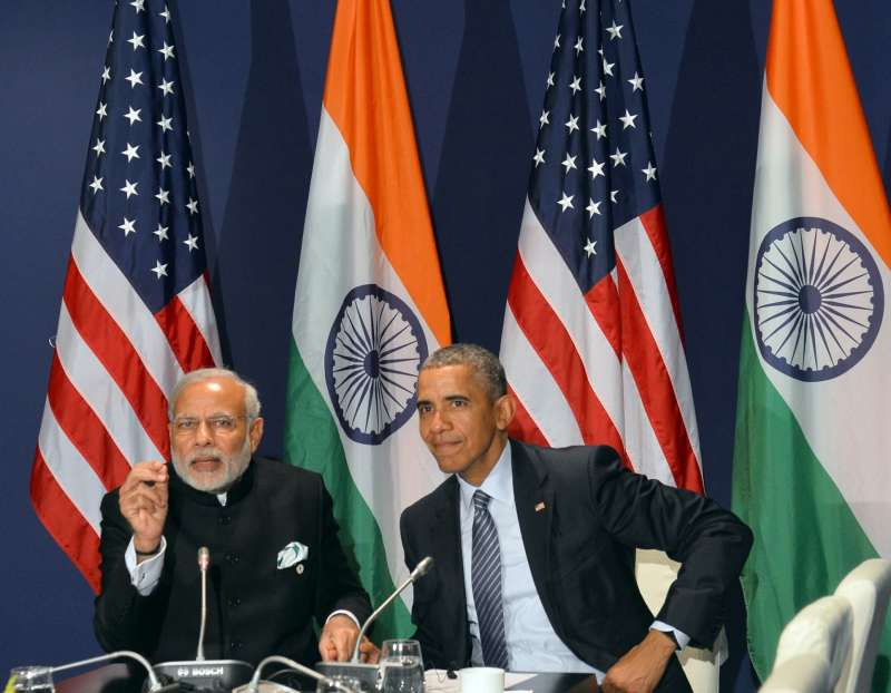 Prime Minister Narendra Modi meets the President of United States of America (USA) Barack Obama, on the sidelines of COP21 Summit, in Paris, France