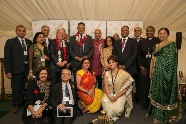 Hindu Forum of Britain team with dignitaries