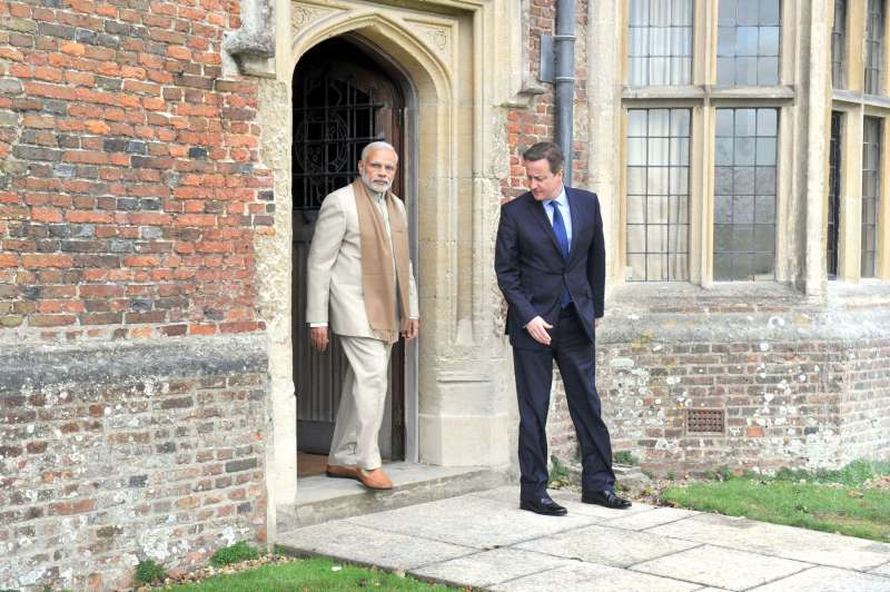 Modi and Cameron  at Chequers during his fecent visit to the UK