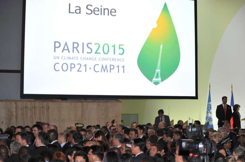 Modi at the Leaders' Meeting during COP21 Summit, in Paris, France a