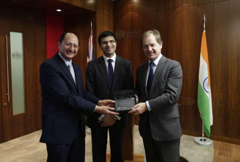 Nikhil Rathi, CEO LSE Plc with Hugo Swire MPand  Shailesh Vara MP