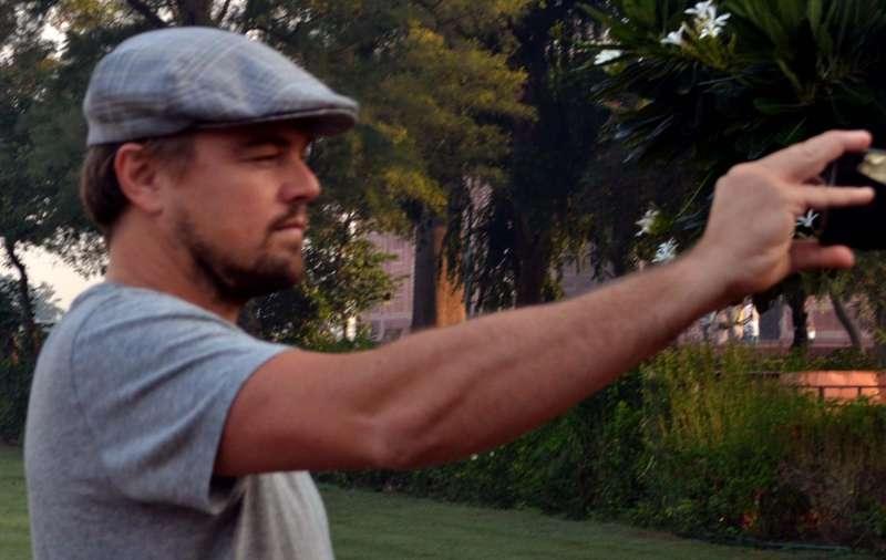 Hollywood star Leonardo DiCaprio visits the Taj Mahal in Agra
