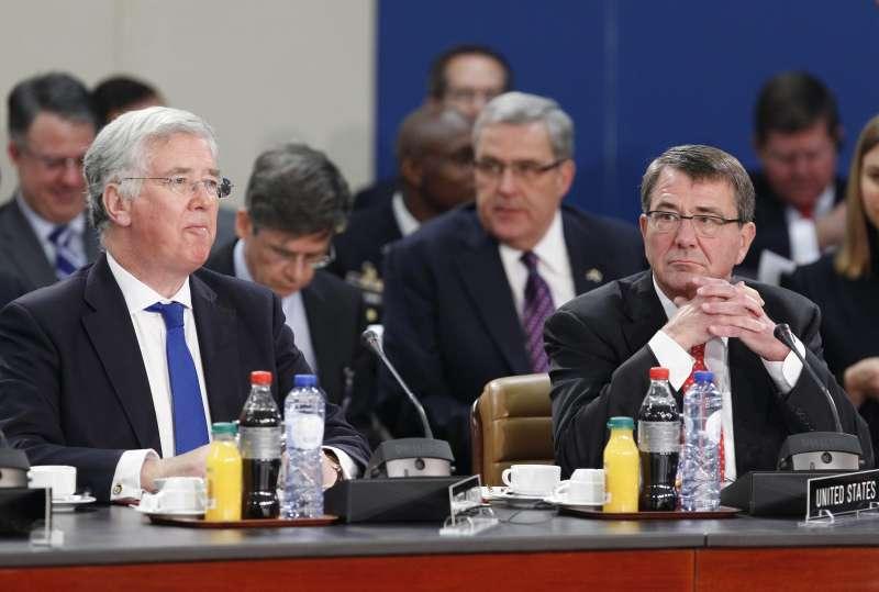 British Defence Secretary Michael Fallon attending a conference (File)