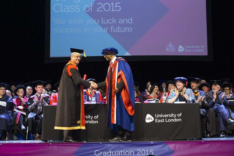 Dr Ashok Amritraj receives honorary doctorate from University of East London