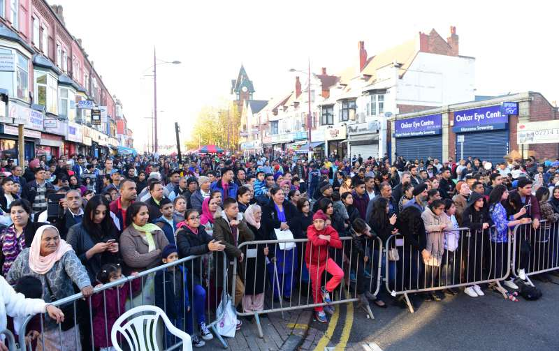Diwali celebrations at Soho Road in Birmingham