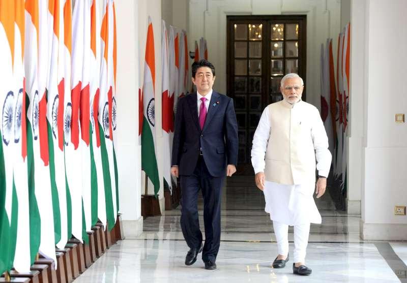 Japanese Prime Minister Shinzo Abe with Modi