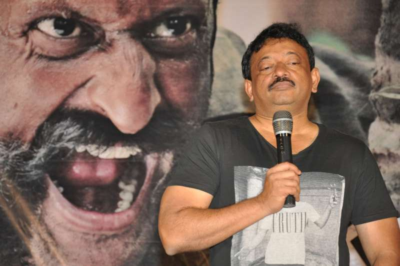 Ram Gopal Varma during a film launch