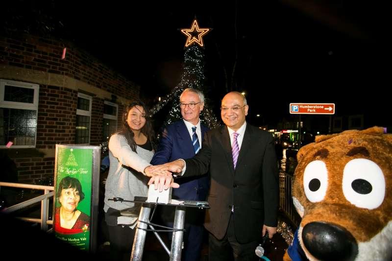 Anjali Vaz, Claudio Ranieri and Keith Vaz MP during the ceremony