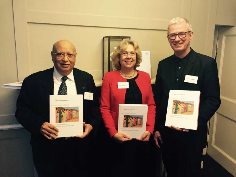 Lord Loomba with Baroness Northover and Kasper de Graaf