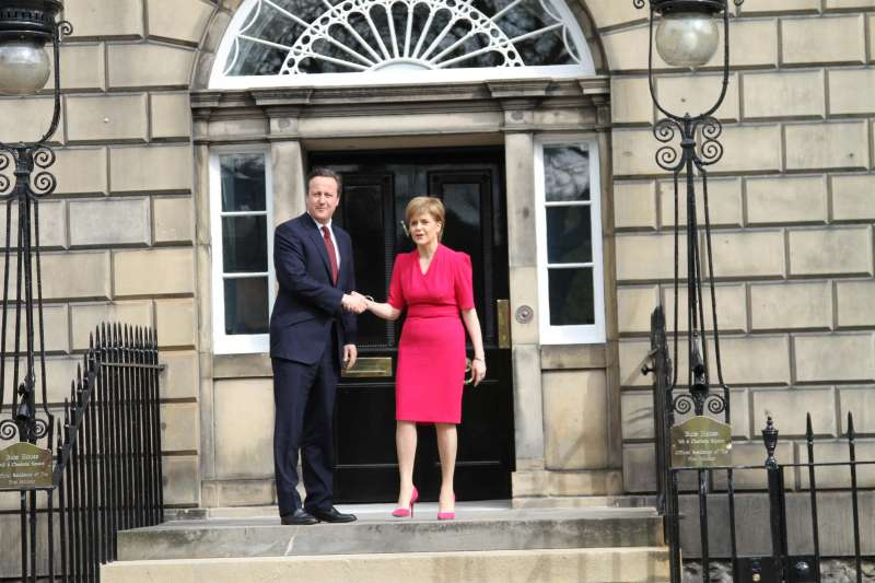 Prime Minister David Cameron with Scottish First Minister Nicola Sturgeon